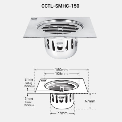 CCTL-SMHC-150 Dimension Image