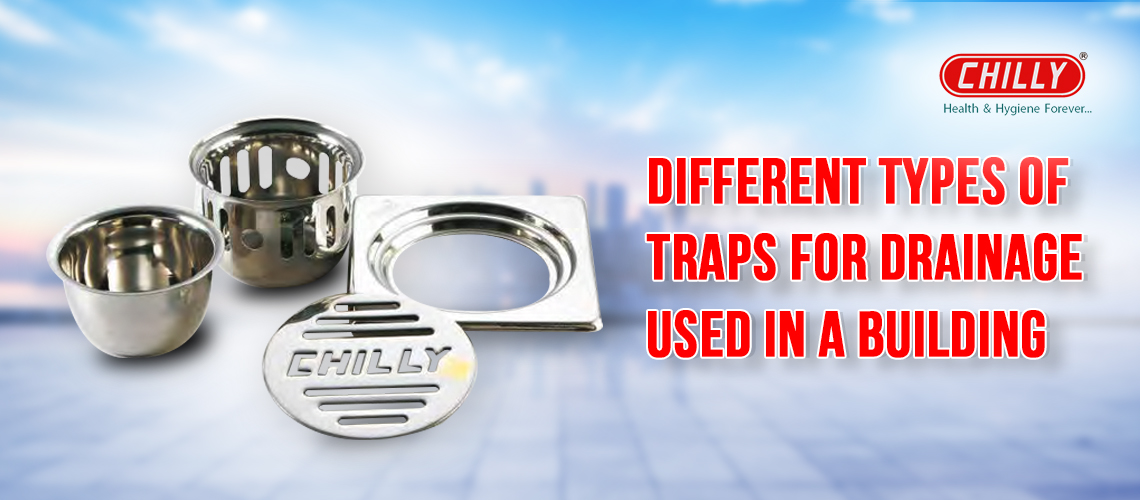 Different Types Of Traps For Drainage Used In A Building